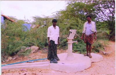 Construction of the Bore well